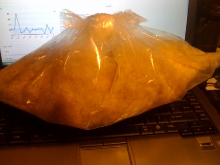 A bag of bulrush seeds