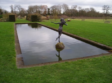 An ornamental pond not far from Oxford