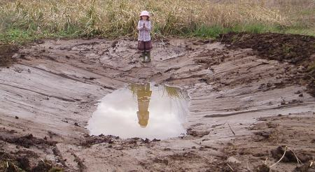 Have some faith girl! We're not expecting to need the help of deities for this pond to fill