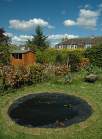 The new pond on 26 April 2009